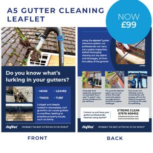 Gutter Cleaning Leaflet Now £99