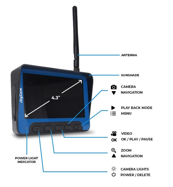 monitor details on the recordable camera