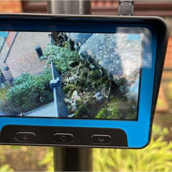 close up of real time camera